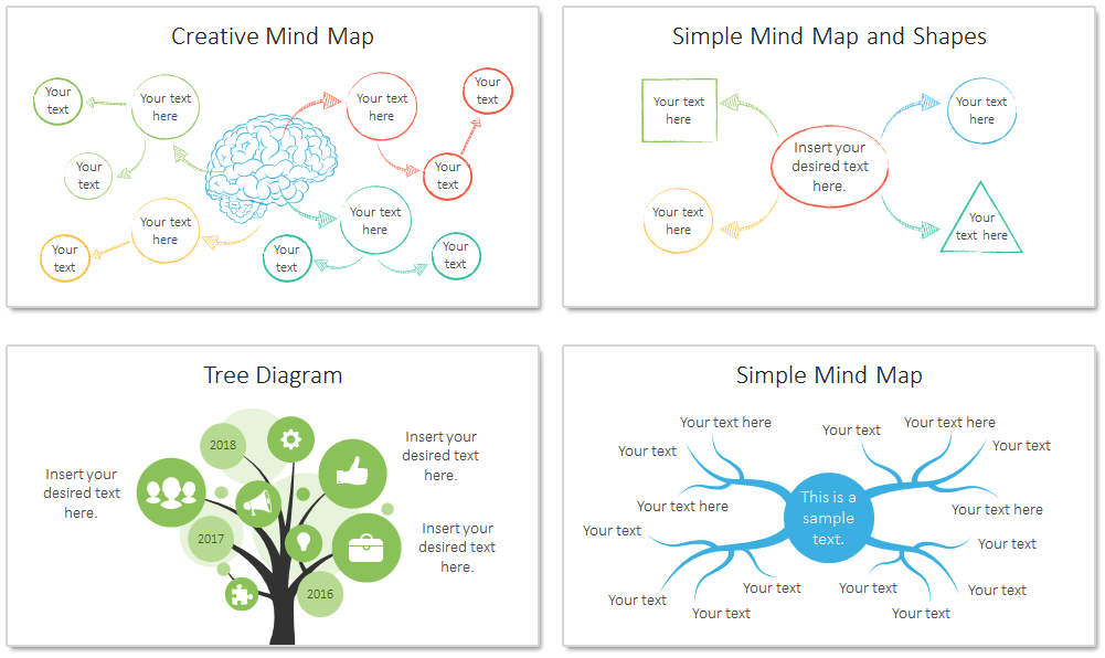 Mind Map Powerpoint Template Do Pinterest Map Design