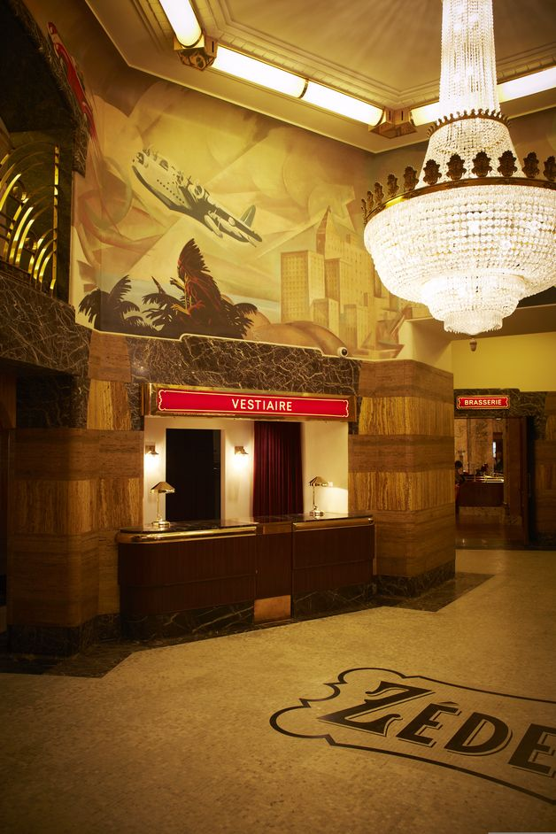 Brasserie Zédel - in the basement of what was formerly the Regent Palace Hotel, London. Art Deco.