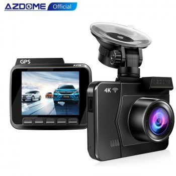 FHD 2160P+1080P Dual Lens Car DVR Dash Cam 4K Camera Video Recorder Night Vision