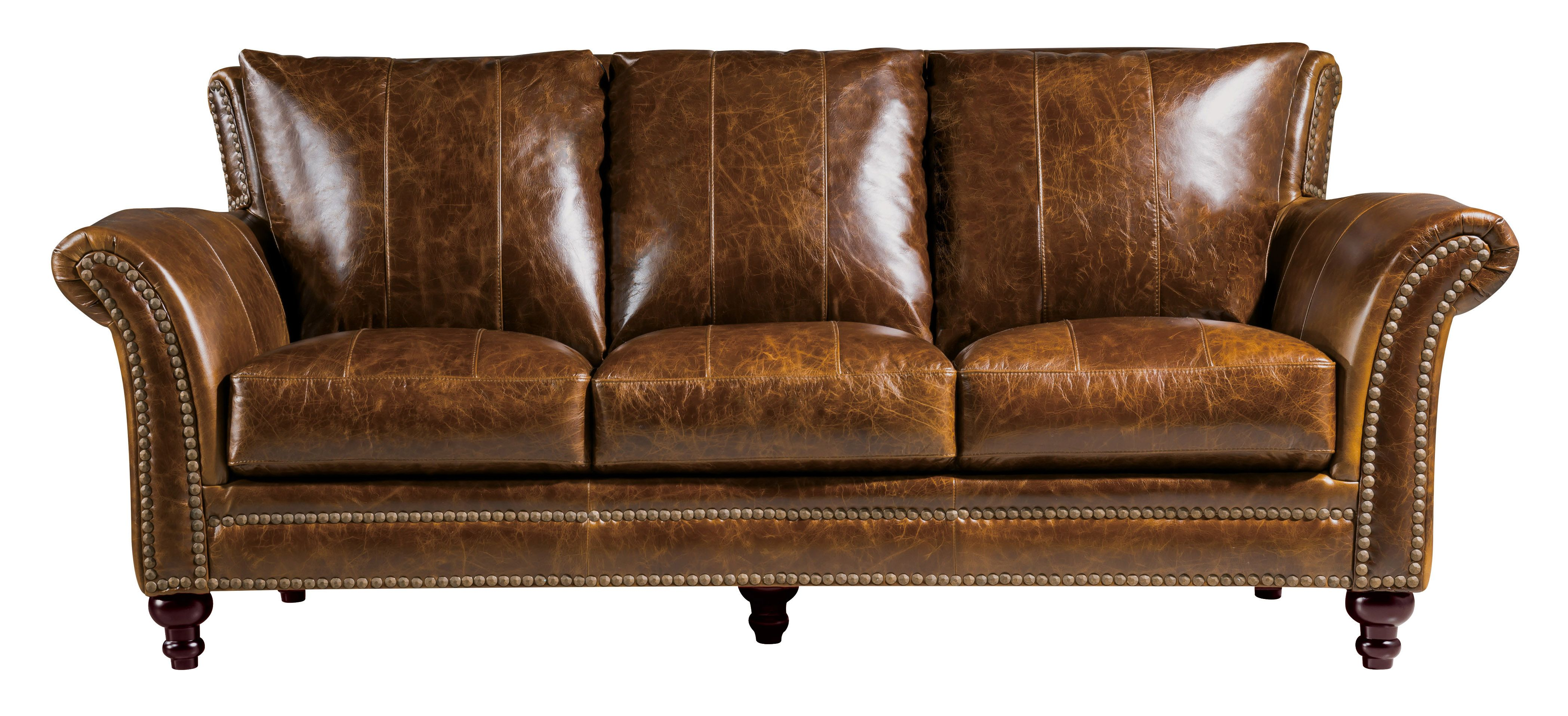 Butler Sofa by Leather Italia USA Geor own Collection Leather