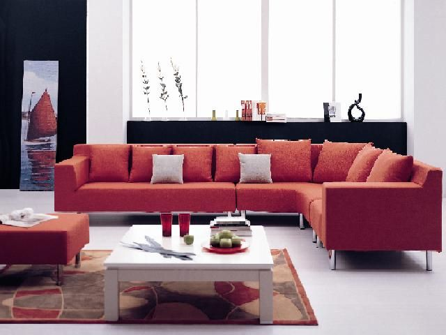 Funky Corner Couch Could Go Anywhere