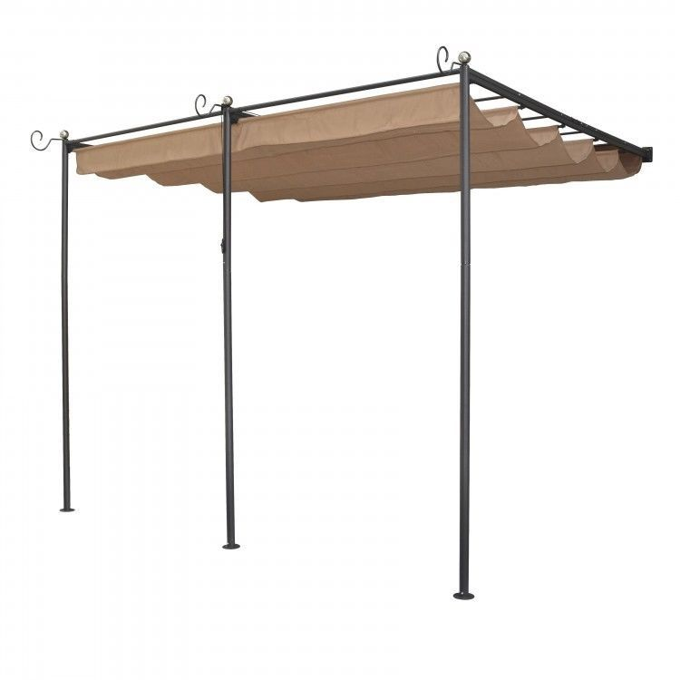 Outdoor Patio Retractable Awning Canopy Mediterranean Deck Sun Shade Wall  Mount