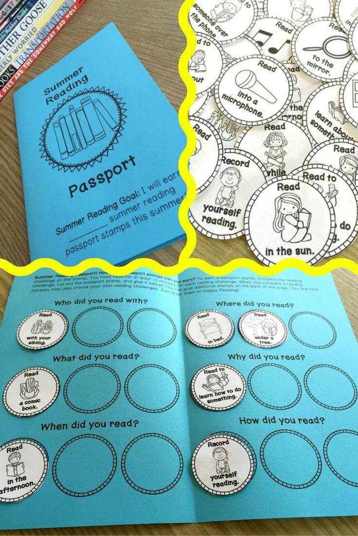Summer Reading Passport (Single Classroom Use)   Worksheets ...