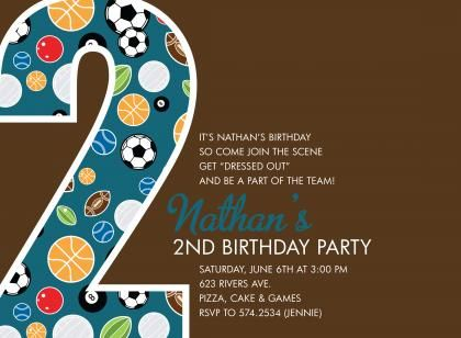 1000 images about Seans Ball party – Sports Themed Birthday Invitations