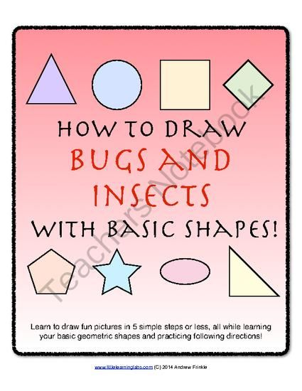 How to Draw with Basic Shapes Book - Bugs and Insects from