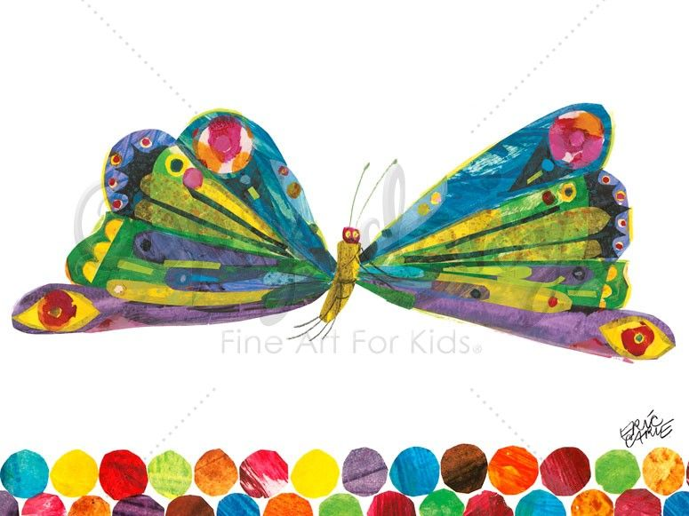 Eric Carle's Fluttering Butterfly Eric Carle Canvas Wall Art Oopsy Daisy
