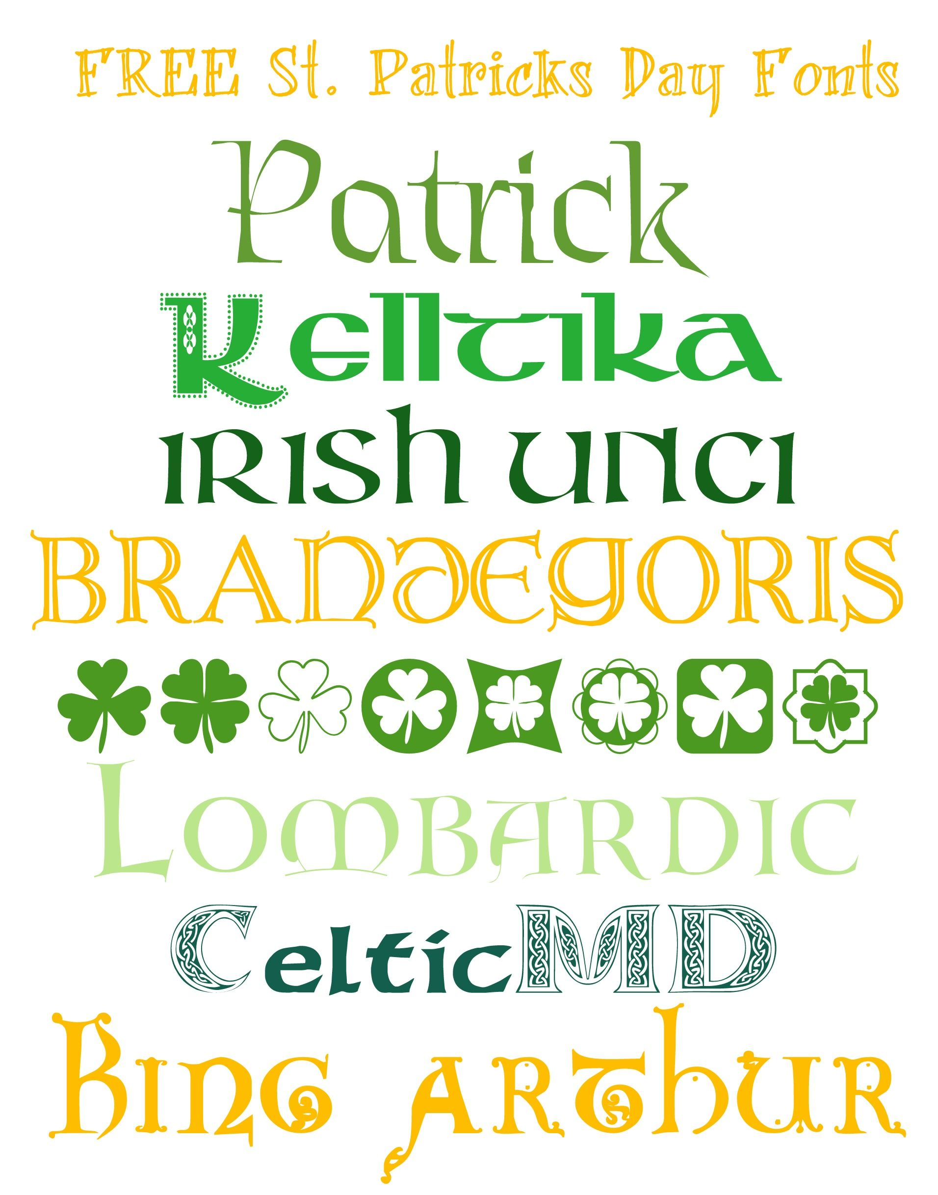 Free fonts for st patricks day 8 free fonts w links