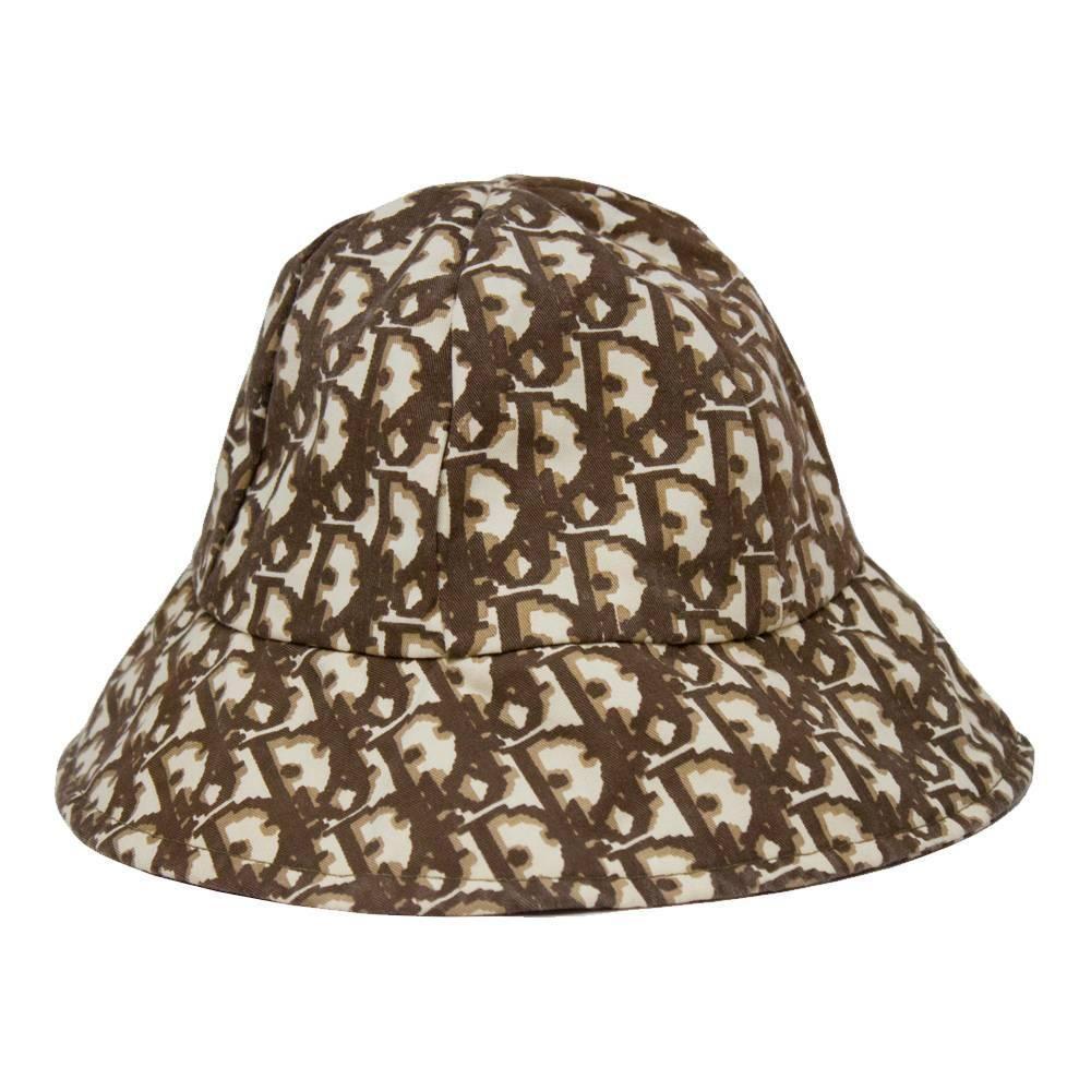 c50789682 1970's Christian Dior Cotton Monogram Bucket Hat in 2019 | on head ...