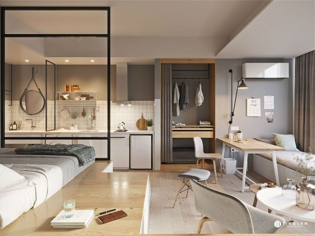 39 Brilliant Micro Apartment Design Ideas For Cozy Living #cozyliving