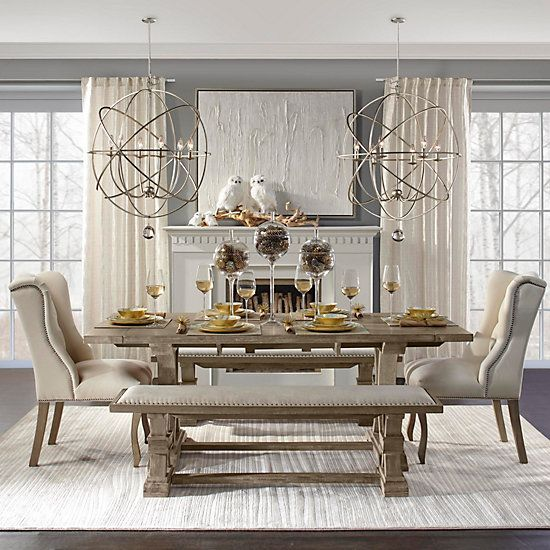 Archer Natural Grey Extending Dining Table Home Decor