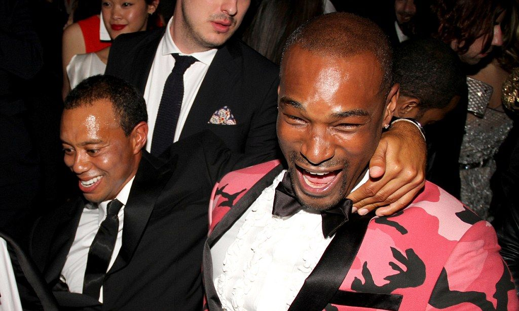 Tiger Woods unleashes his inner party animal as he 'falls ...