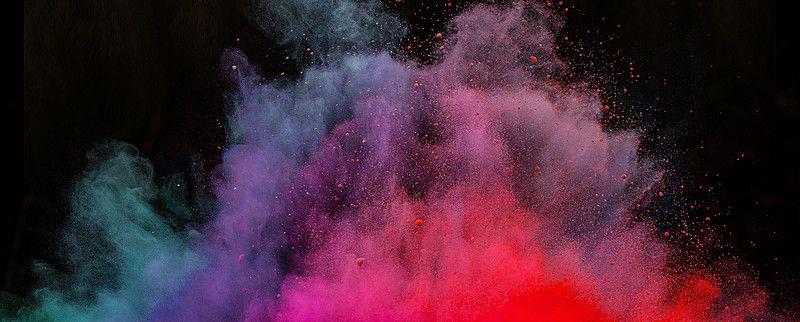 Fumaça Cor De Fundo, Color, A Fumaça, Gradiente, Imagem De