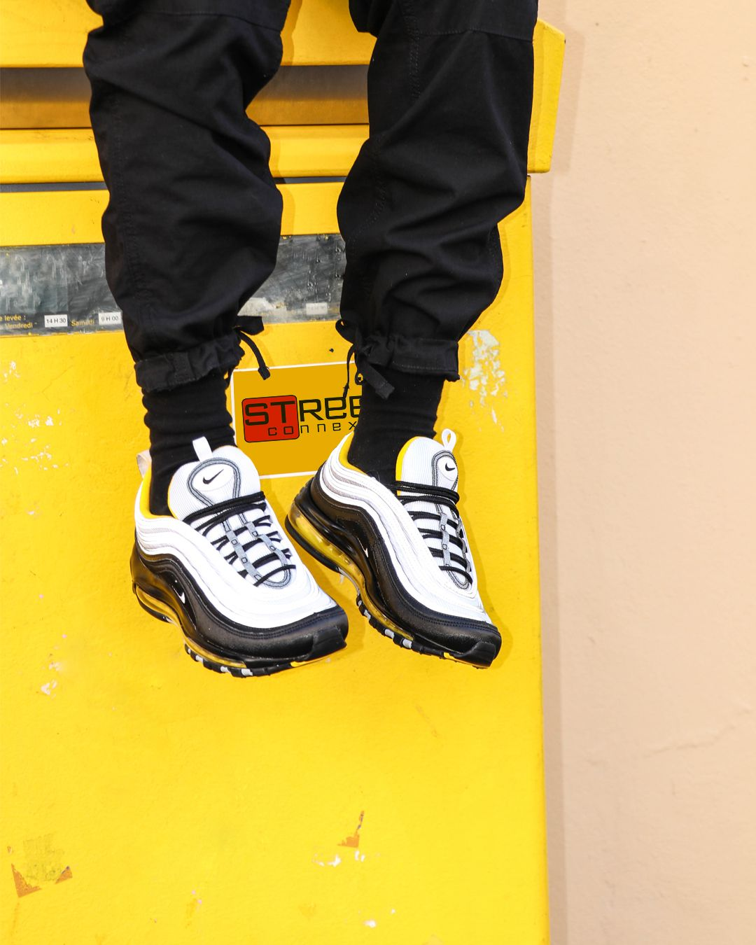 ed934c2b90a13 Air Max 97 Black Amarillo | Sneakers | Air max 97, Air max, Jackets