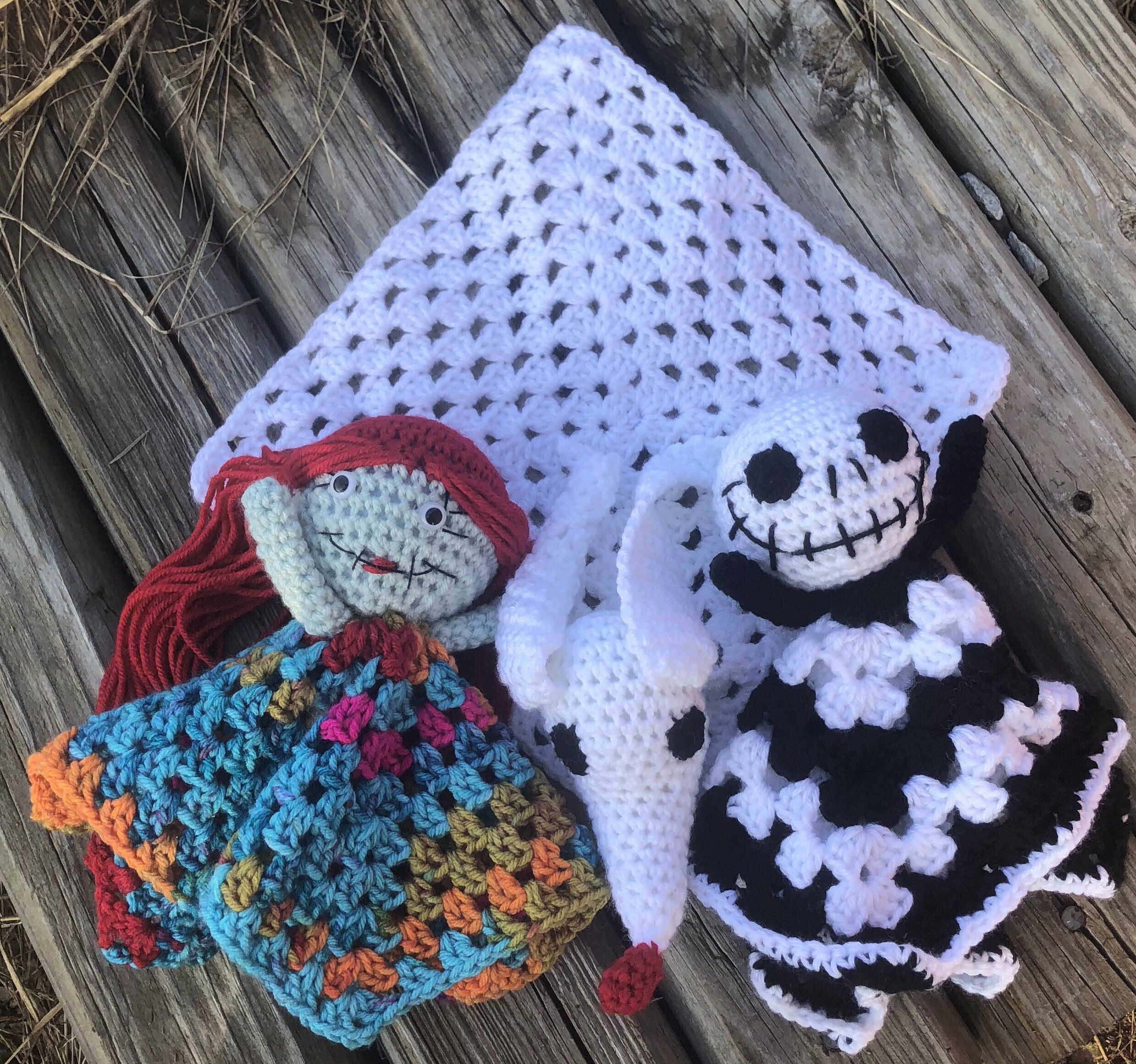 Jack and Sally crochet patterns about 16'' | Etsy | 2323x2480