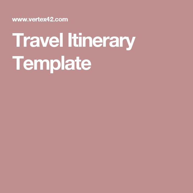 Travel Itinerary Template  Travel  Europe    Travel
