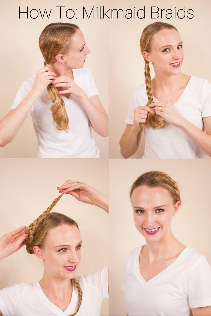 easy minute hairstyles milkmaid braid girl hair and haircut style