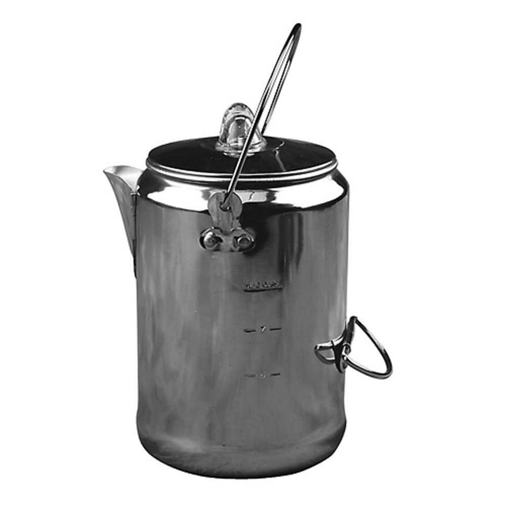Camp Fire Coffee Percolator Maker Pot Kettle Boil 9 Cup Water NEW