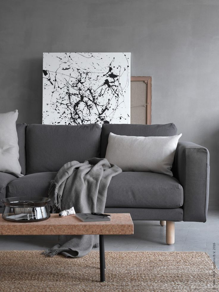 sofa gray color corner problem shades of grey interior pinterest living room and ikea norsborg