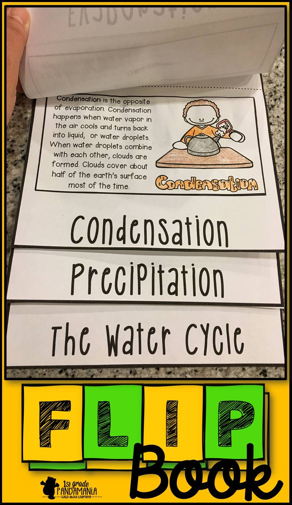 Water Cycle Flip Book Science Activities Water Cycle