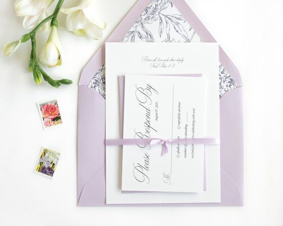 Hey, I found this really awesome Etsy listing at https://www.etsy.com/listing/268604390/romantic-lavender-wedding-invitation