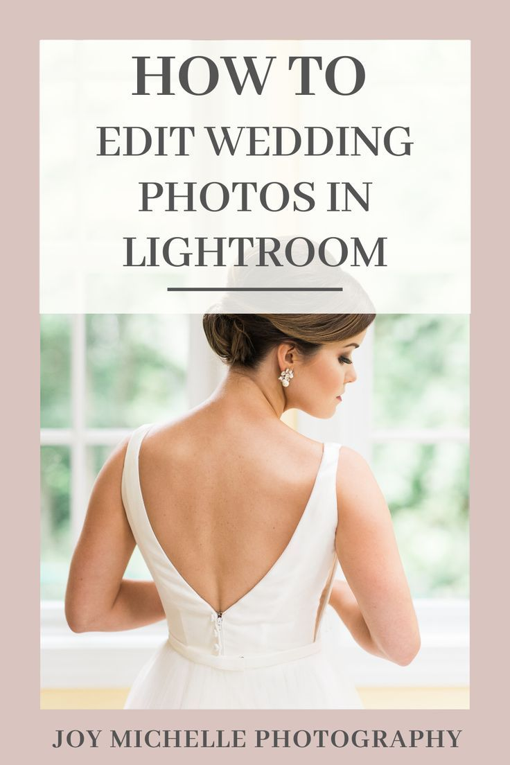 I'm sharing how to edit wedding photos in Lightroom, especially those underexposed and images that are less than ideal. I like my images to feel bright, romantic, and elegant so even when I photograph weddings in darker areas inside, I want my final edits to reflect my style.  Lots of tips and ideas as you see the before and after in this video tutorial.   Joy Michelle Photography Education #photographytips #lightroom #photographyediting #weddingphotographytips #photoboss