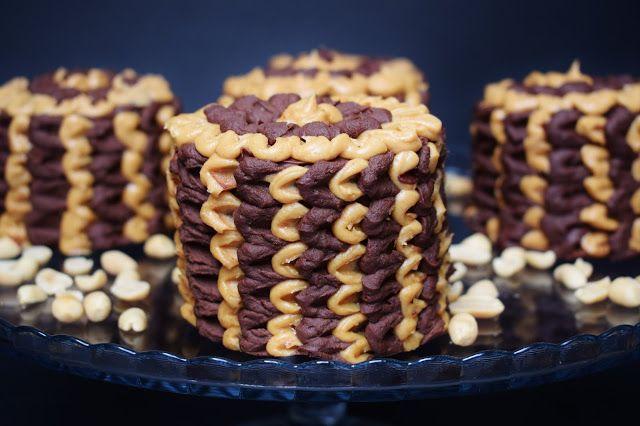 Erdnussbutter Brownie Törtchen Peanutbutter Brownie Mini Cakes