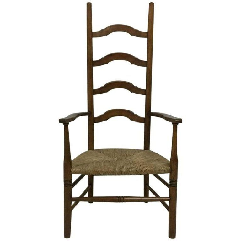 Liberty And Co Arts And Crafts High Back Ladder Back Rush Seat