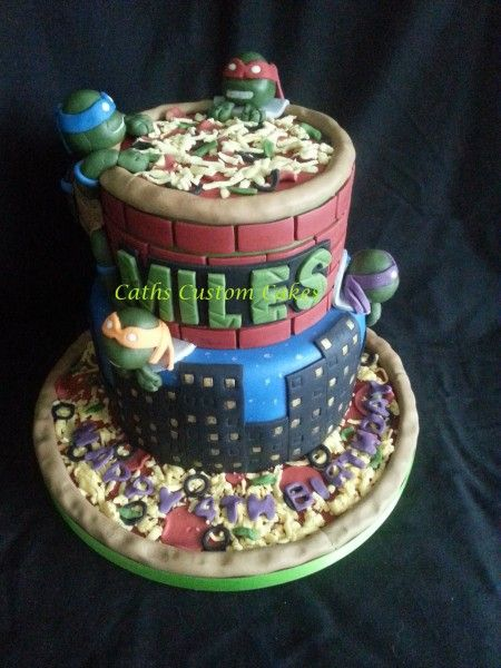TMNT Cake Caths Custom Cakes Fan Share PartyAnimalOnline