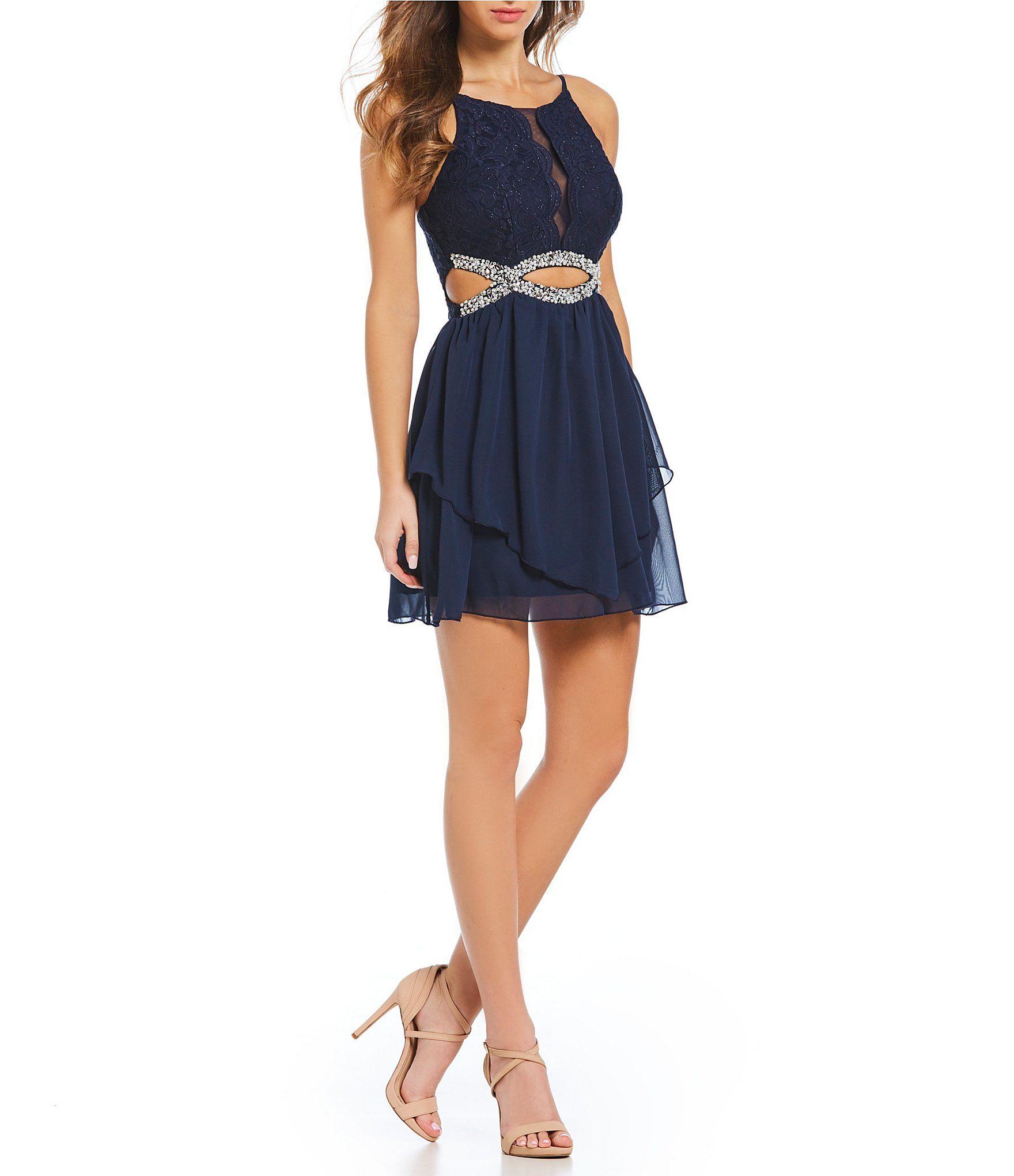 354d8784b8c Shop for Xtraordinary Spaghetti Straps Beaded Infinity Waist Dress at  Dillards.com. Visit Dillards.com to find clothing