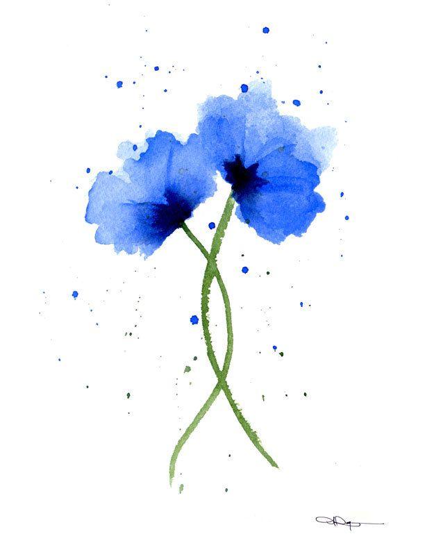 Blue Poppies Art Print - Flower Wall Decor - Floral ...