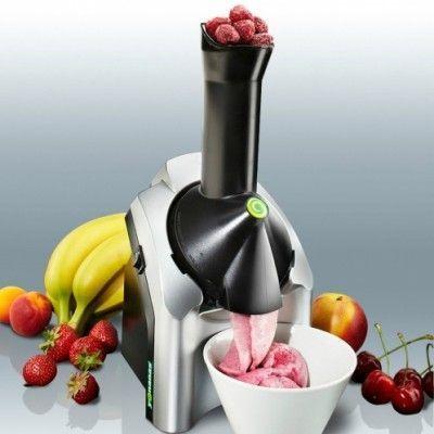 ماكينه صناعه الايس كريم والفواكه المجمدة ماكينة صنع ايس كريم الفواكهة الالة المدهشه لتحويل الفاكهة الى ايس ك Homemade Ice Cream Make Ice Cream Homemade
