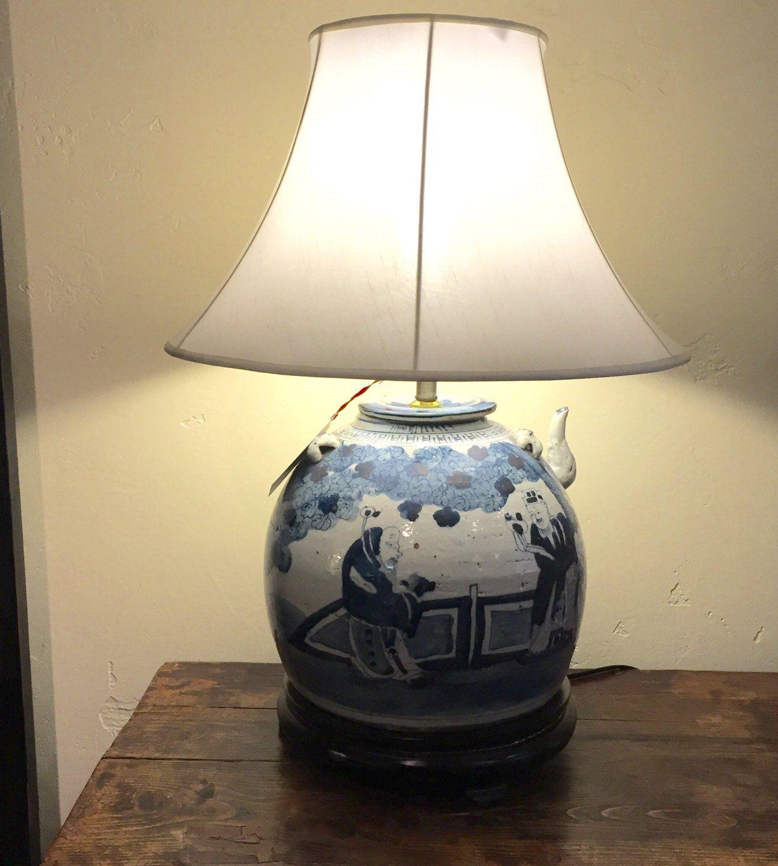 Antique Blue And White Ginger Jar Lamp Ginger Jar Lamp Ginger