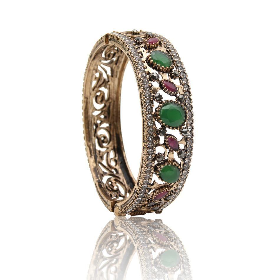 Free shipping turkish bangles flower cuff resin bracelets arab