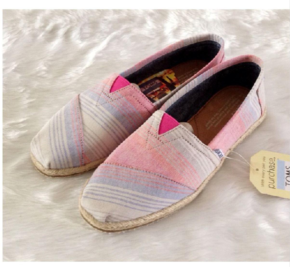 TOMS麻底漸層-粉紅色 / 尺寸:W US / 1300元