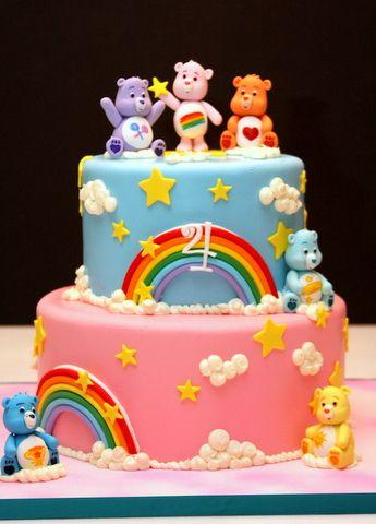 Fine Care Bears Cake Care Bear Cakes Birthday Cake Kids Care Bears Birthday Cards Printable Benkemecafe Filternl