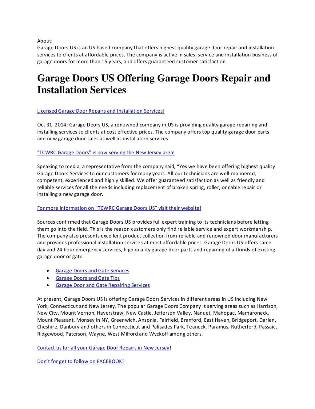 Tcwrc Garage Doors Us By Garage Doors Us Via Slideshare Gates And