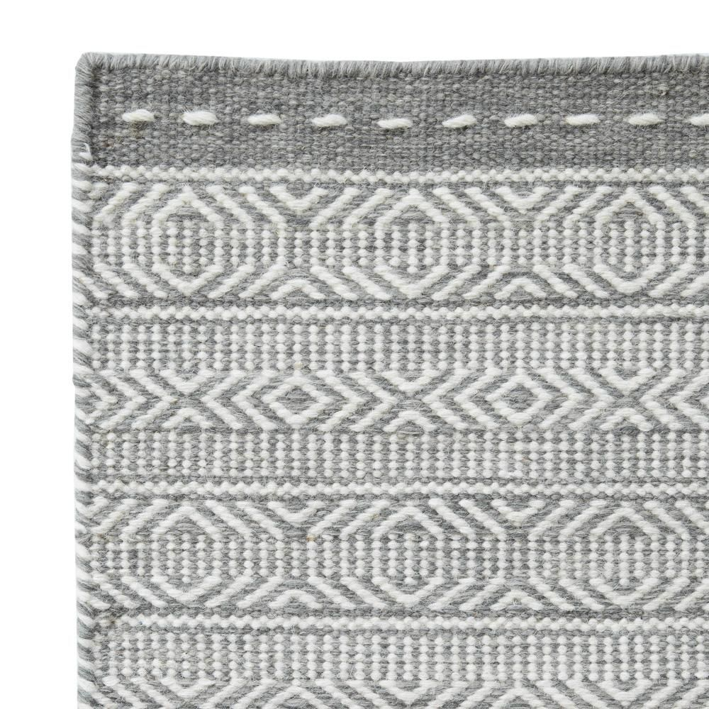 Best Parker Wool Rug Grey Flat Weave Rug Carpet Hallway 640 x 480