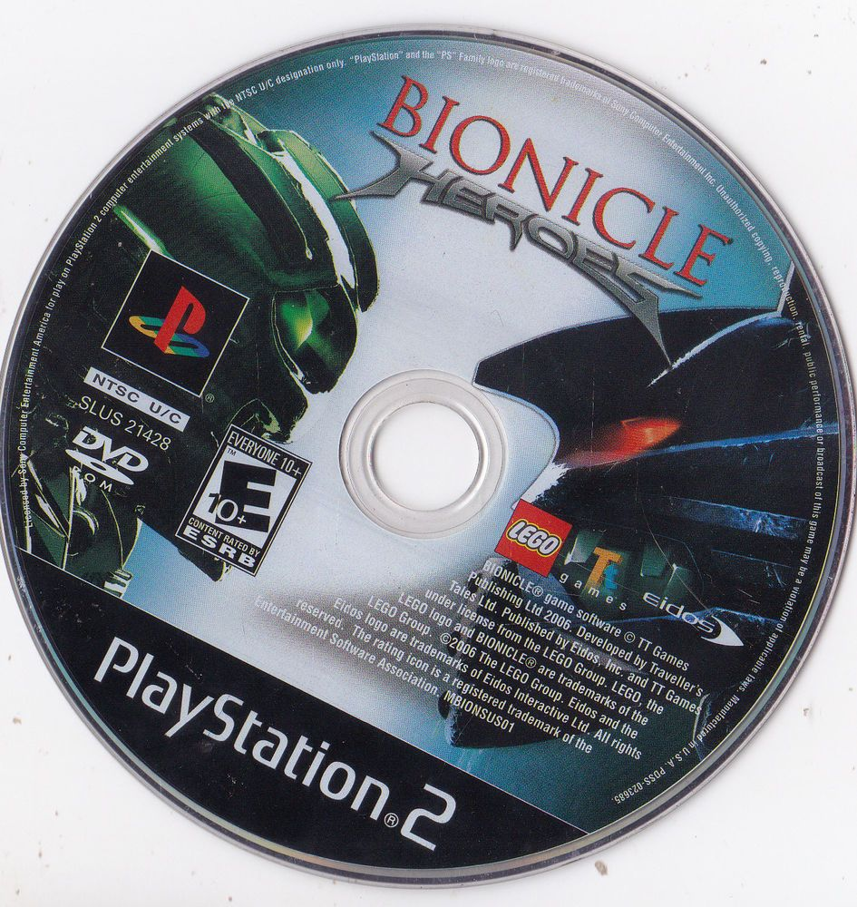 BIONICLE HEROES PLAYSTATION 2 PS2 **FREE SHIPPING** Video