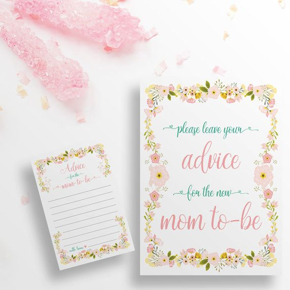 Diy Printable Advice For Mom To Be Sign By Cloudnineprintstudio