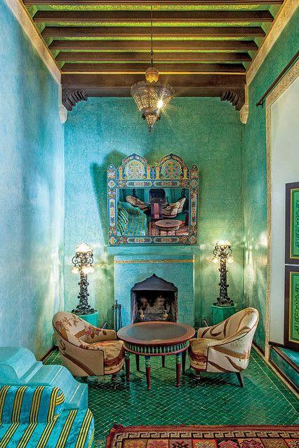 countess marta marzotto in her moroccan home