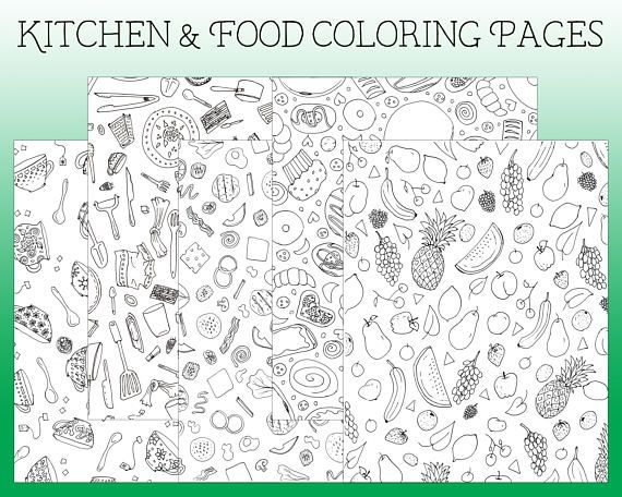 coloring pages  kitchen coloring page  i spy coloring