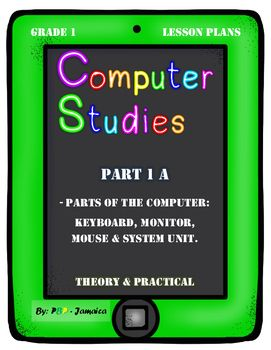 Grade 1 Computer Studies Lesson Plans on Parts of a Computer