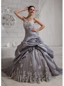 silver ball gown with sleeves - Google Search