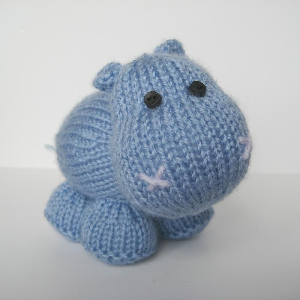 Higgins the Hippo | Knit | patterns (pay for) | Knitting patterns