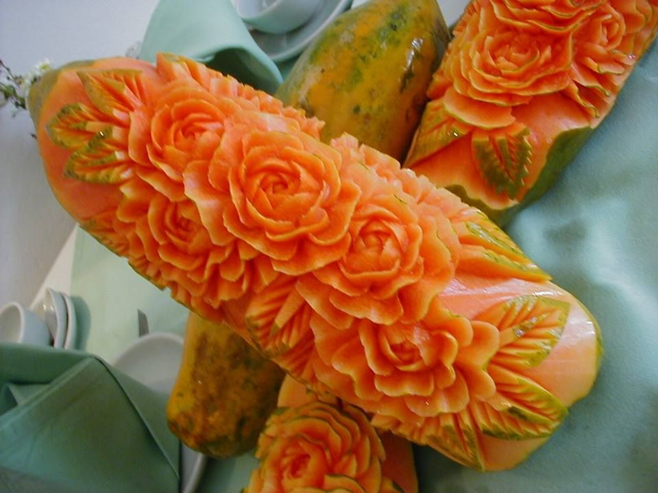 Papaya fruits carving pinterest fruit carvings food