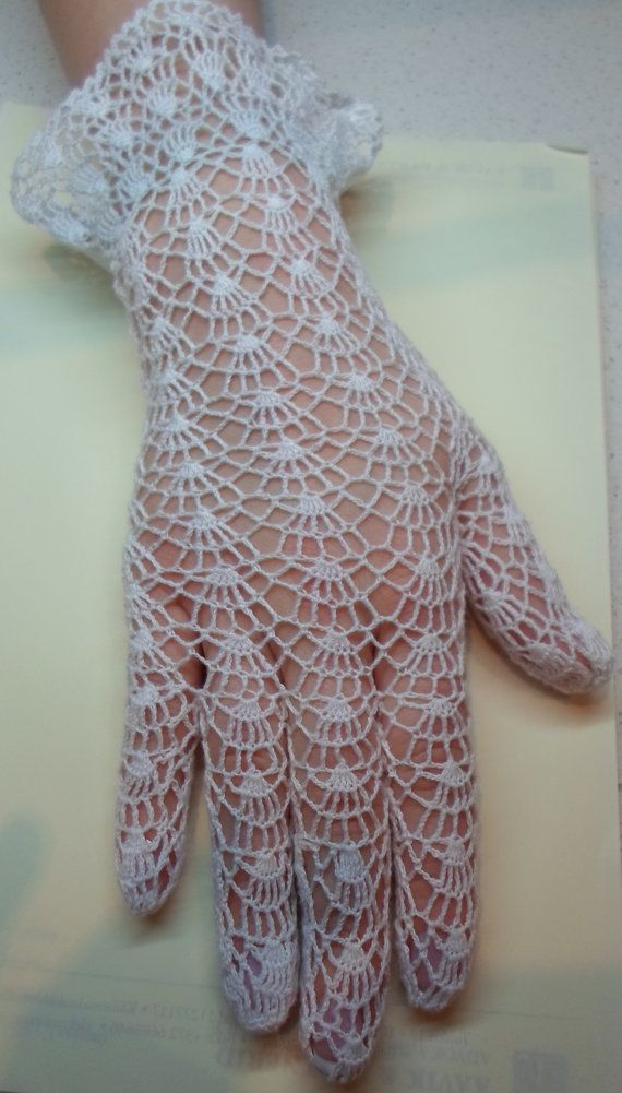 Vintage Style Crochet Lace Gloves, white, wedding en 2018 | RUBAI ...