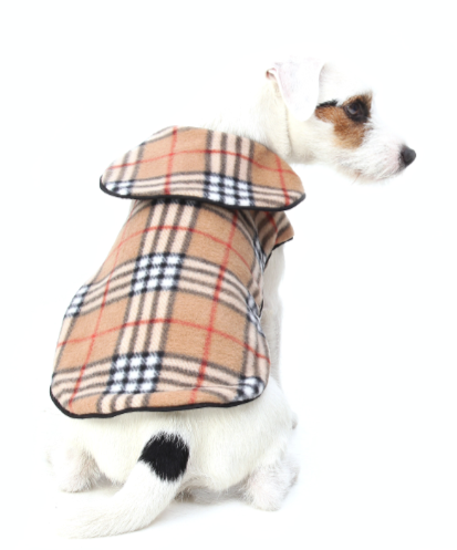 100% VIRGIN BURBERRY WOOL JACKET Dog Bed 249317a4a60f