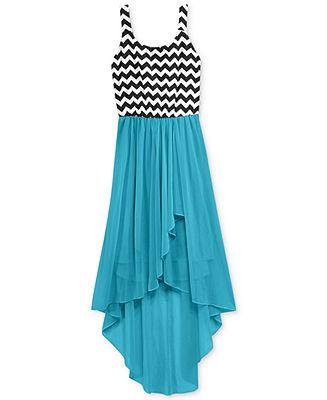 Ruby Rox Girls Chevron High Low Dress Kids Girls Dresses Macy S