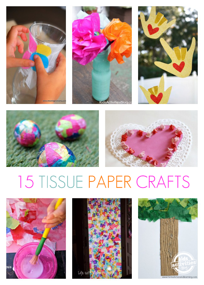 tissue paper craft ideas for kids