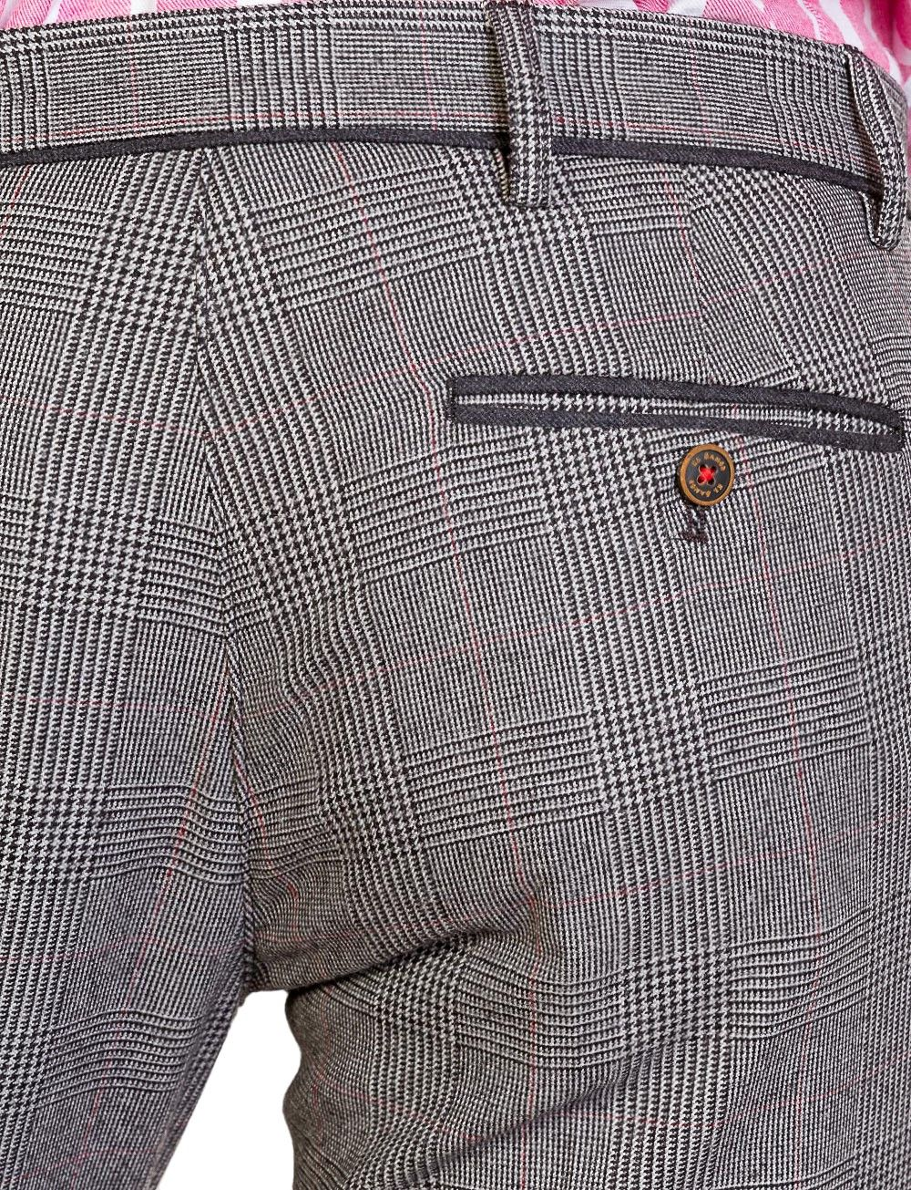 298819d6d1c19 Pantalón Cuadro Gales Gris Marengo Subalpino   El Ganso Online Store ...